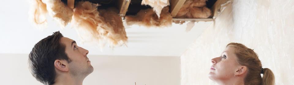 plafond lekkage