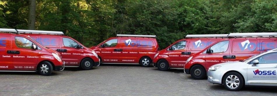 Bedrijfsauto's van loodgieter Amstelveen